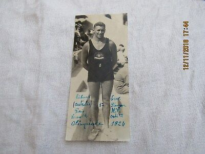photo ancienne  australie 1924 olympiade andrew charlton plongeon