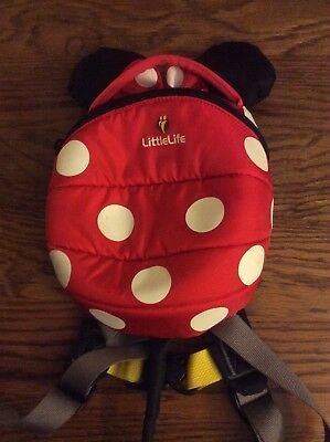 Minnie Mouse Little Life Backpack With Reins