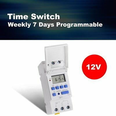 SINOTIMER 12V Weekly 7 Days Programmable Digital Timer Switch Relay Control NZXo