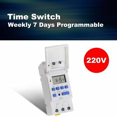 SINOTIMER 220V Weekly 7 Days Programmable Digital Timer Switch Relay Control Xp
