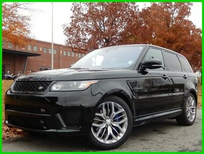 """2016 Land Rover Range Rover Sport SVR AWD 550HP CLEAN CARFAX LOCAL TRADE PANO ROOF DRIVER ASSIT PKG 21"""" WHEELS MERIDAN SOUND"""