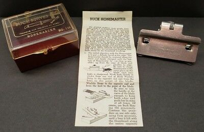 Vintage Buck Knives Honemaster No 136 Knife Sharpening Tool in Original Case NMT