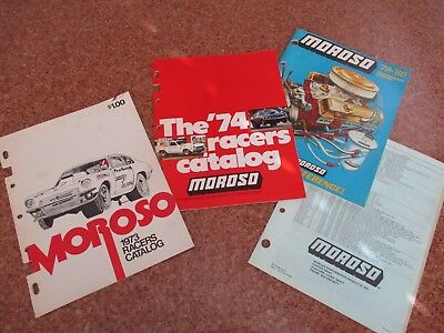 3 Vintage Moroso Drag Racing Hot Rod Gasser Speed Shop Catalogs Race Car Parts