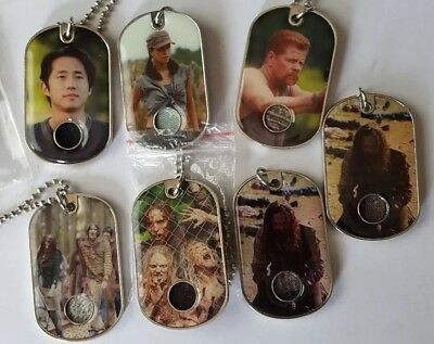 Walking Dead Dog tags relics lot of 7 season 3 and 4