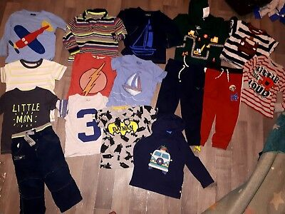 boys 2-3 big bundle of clothes mostly Next joggers jumpers hoodie tops dino car