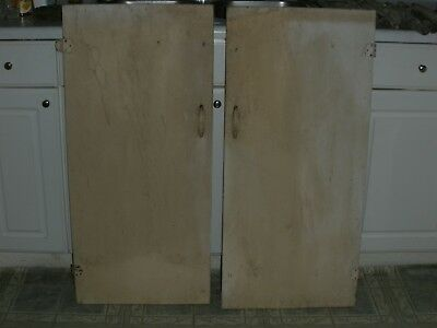 Vintage Cabinet Doors - Pair for Camp, Cabin, Cottage 1950's Cabinet, 38x18