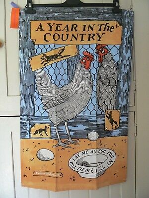 """Emma Bridgewater Year In The Country Chickens """"lay Me An Egg"""" Cotton Tea Towel"""
