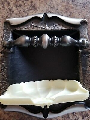 Vintage Amerock Carriage House C-9050-As Soap Dish Recessed Silver Plastic New