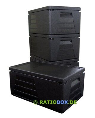 4 x Profi Thermobox Thermobehälter Isolierbox GN 1/1 mit 230mm Nutzhöhe