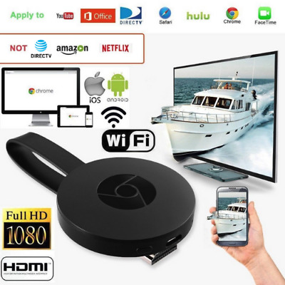 Google Chromecast 2 WiFi HDMI Écran Miroir Dongle Youtube Miracast