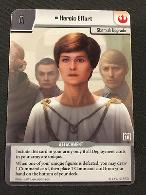 Heroic Effort - Star Wars: Imperial Assault Spot Gloss Promo Card - TO copy