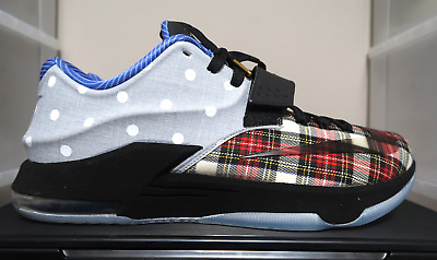 brand new 021d4 8631c NIKE KD 7 VII EXT CNVS QS University Red/Black-White Plaid ...