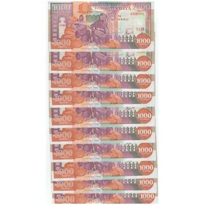 Somalia 1000 Shillings 1996 P-37 Unc Lot 10 Pcs