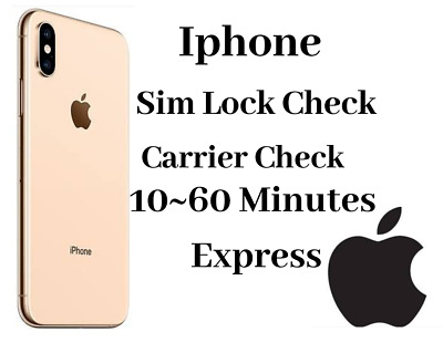 Apple Official iPhone IMEI Network Carrier Checker / SIM Lock Status (Express)