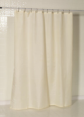Shower Curtain Fabric Liner 70 x 72 Standard Size Solid Polyester Ivory NEW