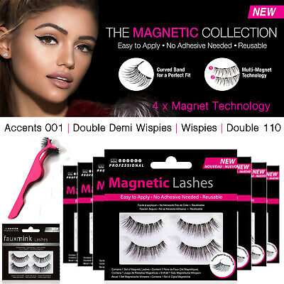 Magnetic Lashes Double Wispies 110 Accents Fake eyelashes mink glue Applicator