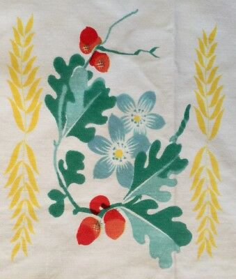 """Vintage Tablecloth With Cherries 67"""" x 53"""""""