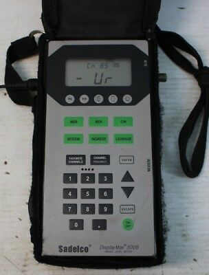Sadelco DisplayMax 5000 Signal Level Meter AS IS