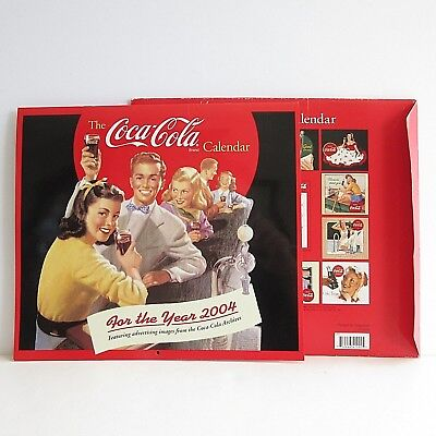 Coca Cola Calendar 2004 Advertising Images 12 months