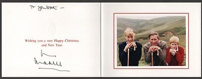 Prince Charles The Prince of Wales hand signed Christmas New Year card