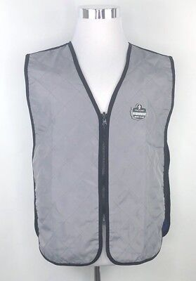 Ergodyne Tenacious Work Gear Mens Sz L Gray Blue Evaporative Cooling Vest