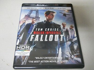 Mission Impossible Fallout 4 K Ultra HD + Blu-ray with case