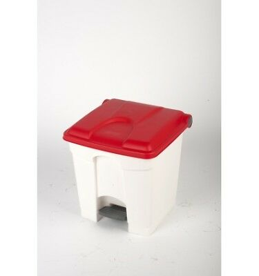 CONTAINER 30L blanc couvercle rouge