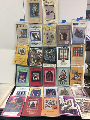 Vintage Assorted Lot Of 27 Quilt Patterns, New In Packages