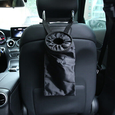 Car Seats Headrest Back Litter Trash Bags Hanging Garbage Washable Can Organizer