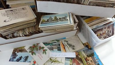 Antique Vintage Lot of Postcards ~ 100  Postcards from the 1910s to 1980s
