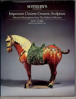 Sotheby's Important Chinese Ceramic Sculpture - Schloss Collection NYC 1984