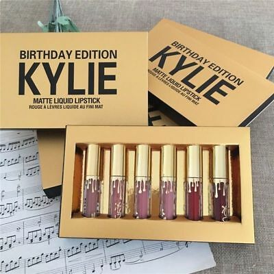 Kylie Jenner Matte Mini Lip Gloss Kit / Gold Birthday Edition-New