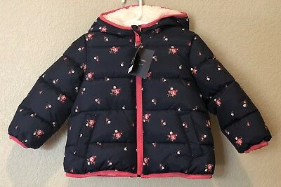 43d626be90f6 BABY GAP SHERPA Puffer Jacket Parka Coat Size 0-6 Months Green ...
