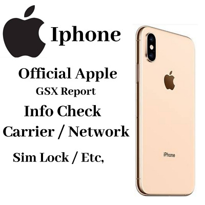 Apple Official iPhone IMEI report, simlock, carier,  (GSX FULL REPORT)