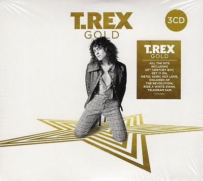T Rex Gold 3 Cd Best Of Cd New 2018 Marc Bolan Get It On Born To Boogie