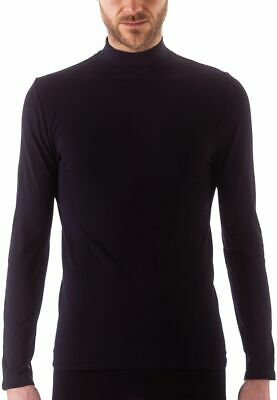 Issimo Men's Mock Neck Long Sleeve Basic Top Lightweight Thermal Pullover