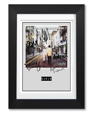 Oasis Story Morning Glory Album Cover Signed Poster Print Photo Autograph Gift