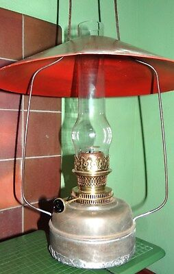 Antique Victorian Ceiling / Harp or Hanging 'Youngs' Oil Lamp - Complete