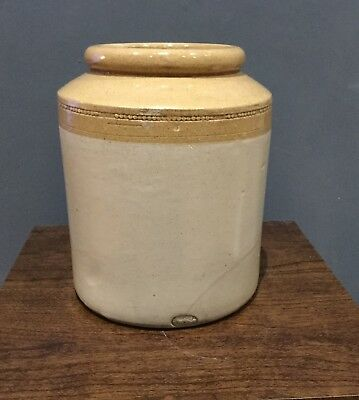 "Antique Skey Tamworth Salt Glazed Stoneware Jar / Pot 7.5"" EXCELLENT CONDITION"