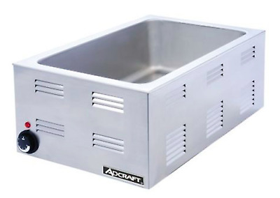 Adcraft FW-1200W Countertop Food Warmer Portable Steam Table Full Pan Size,120V