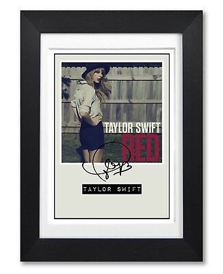 Taylor Swift Red Album Cover Signed Poster Print Photo Autograph Gift