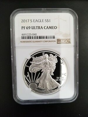 2017 S Proof Silver Eagle PF69 NGC