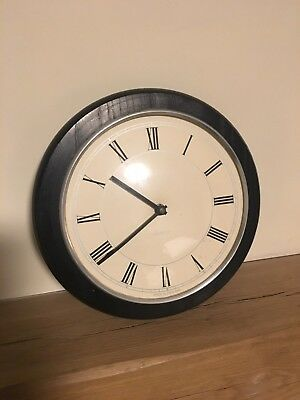 Vintage Quartz Wall Clock on Solid Wooden Base AA Battery Made in England