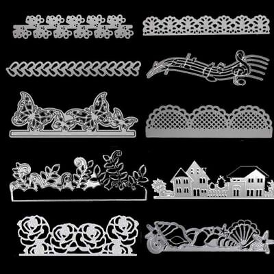 Greeting Cards Cutting Dies Wave Edge Scrapbooking Album Embossing Stencils Tool