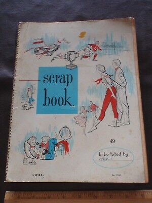 Vintage 1960s Scrapbook, spiral, nothing inside, retro 60s graphics on cover