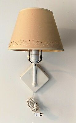 Pair of Matching Vintage Wall Lamps, both with Cut and Pierced Paper Shades