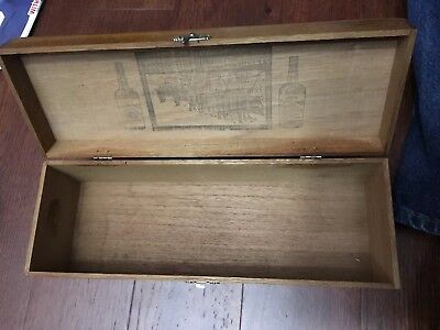 Vintage Old Grand Dad Bourbon Whiskey Wooded Box National Distillers Hobbs