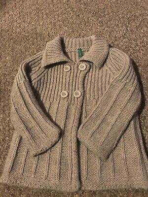 United Colours Of Benetton Woolly Cardigan Beige Unisex 18-24 Months
