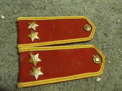 wwi ww1 imperial russian military army uniform red shoulder boards with stars