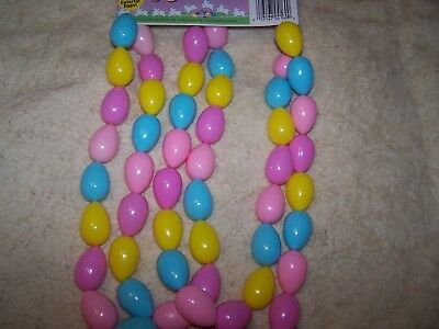 Vintage Plastic Easter Egg Garland EASTER UNLIMITED 6' Mini Eggs (52)